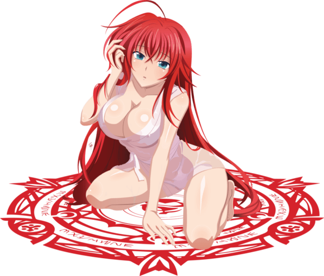 Rias Gremory Sexy Boobs Pictures