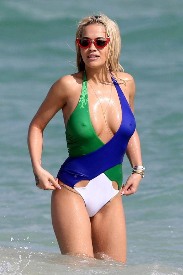 Rita-Ora-sexy cleavages