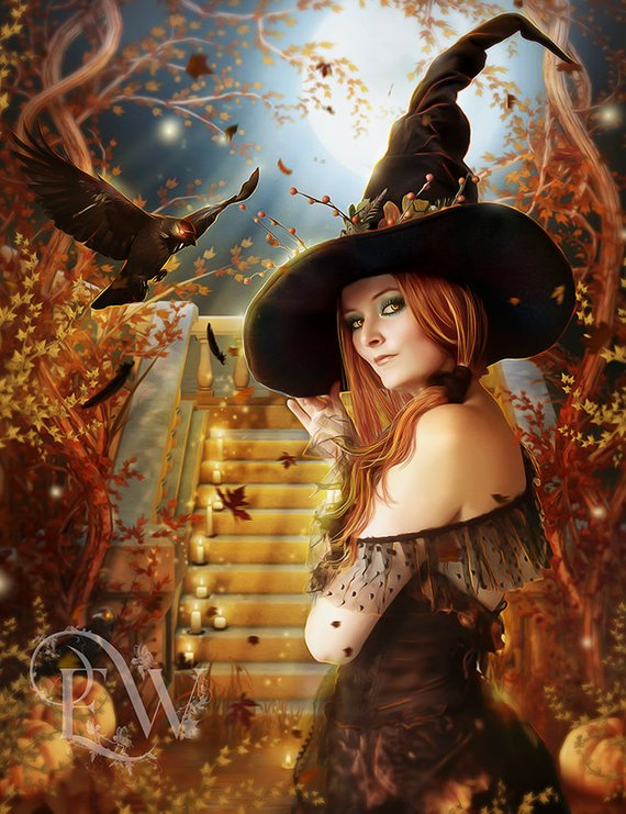 Witch sexy lady picture