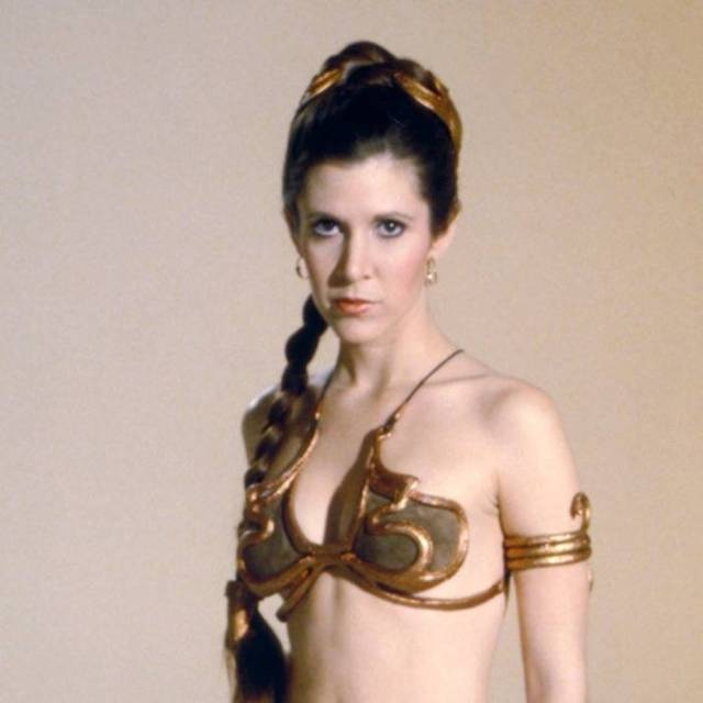 Carrie Fisher CLEAVAGE PICS