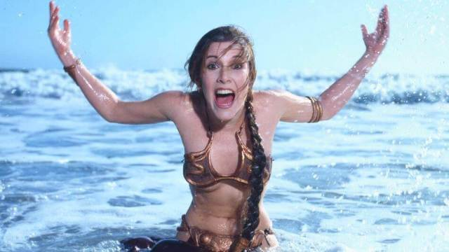 Carrie Fisher HOT WET LOOK