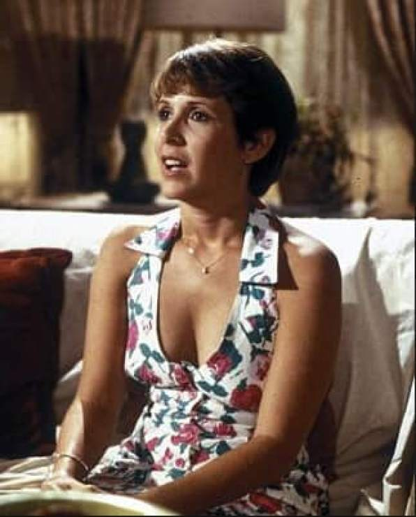 Carrie Fisher SEXY CLEAVAGE