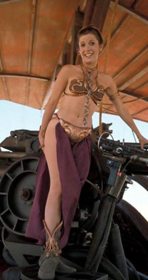 Carrie Fisher SEXY NAVEL
