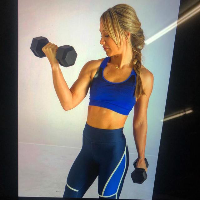 Chloe Madeley Showing Muscle