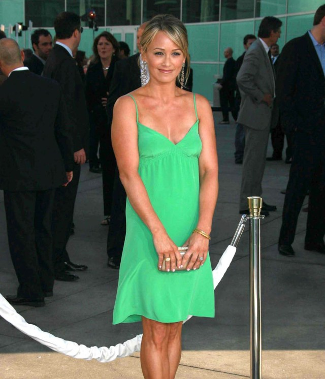 Christine Taylor Hot in Green Dress
