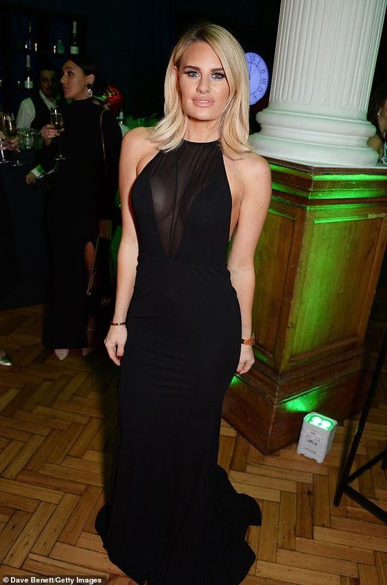 Danielle Armstrong Hot in Black Dress