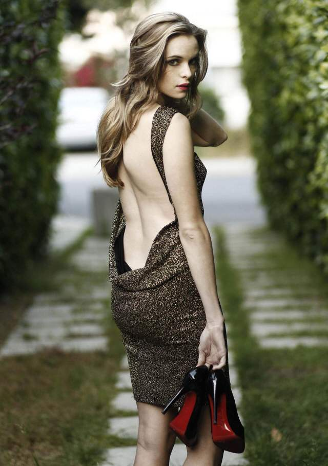 Danielle Panabaker sexy back less