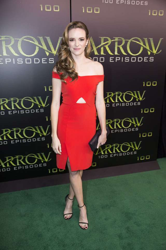 Danielle Panabaker sexy red dress