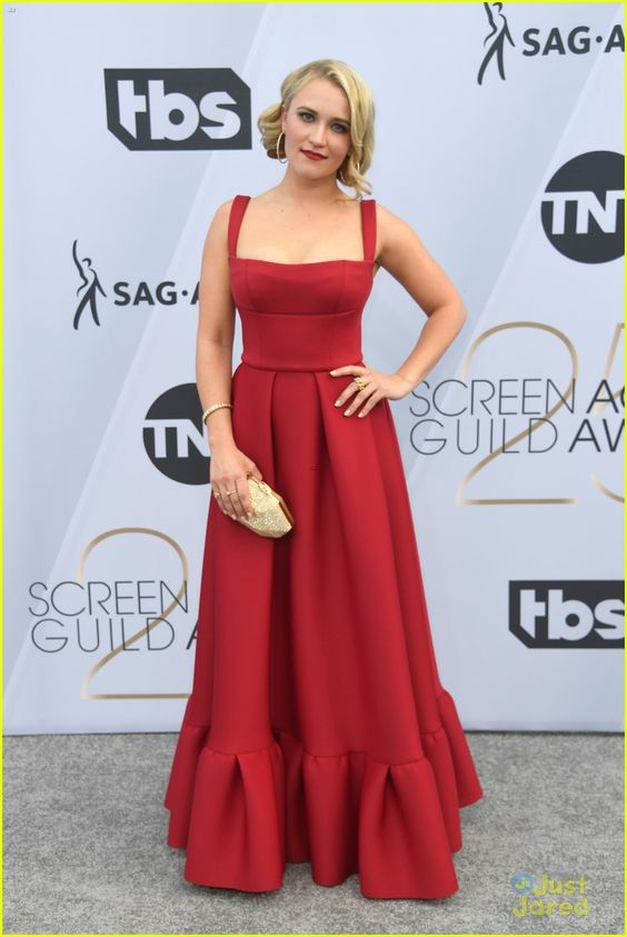 Emily Osment Hot in Red Dress