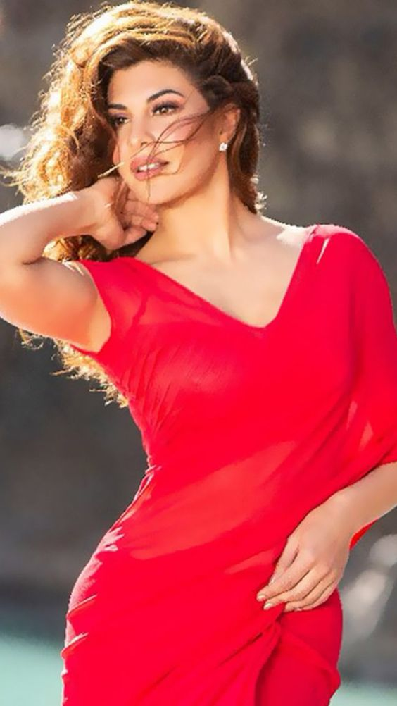 Jacqueline Fernandez Hot in Red Dress