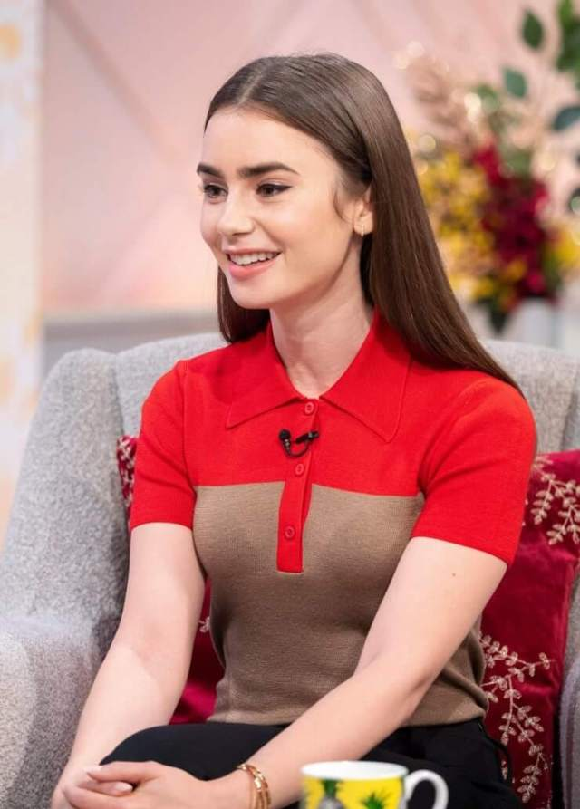 Lily Collins sexy smile
