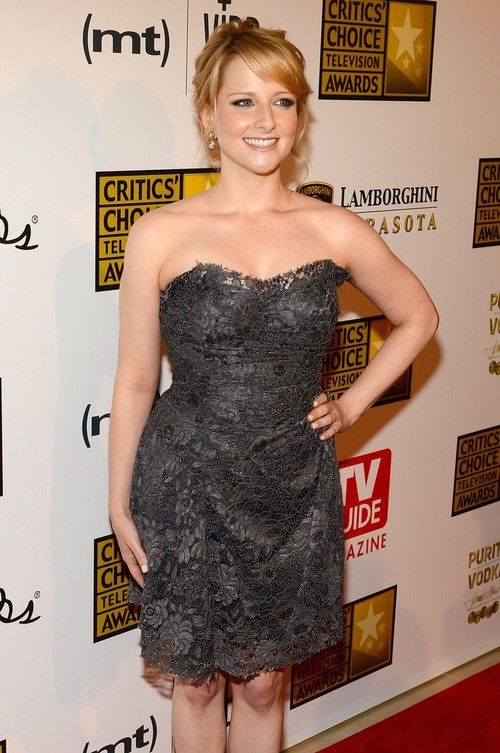 Melissa Rauch hot sexy dress 2