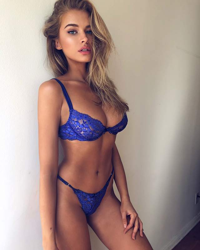 Tanya Mityushina Hot in Blue Bikini