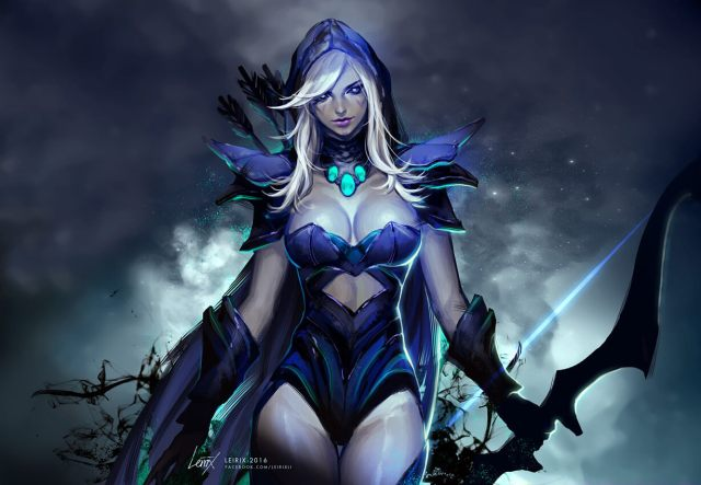 Traxex the Drow Ranger hot cleavage photo