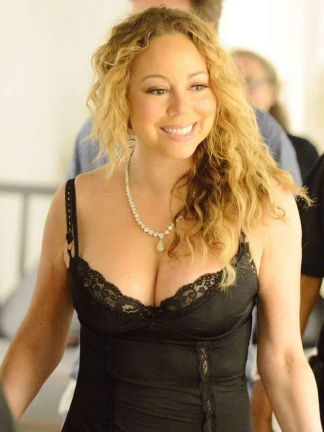 mariah carey black lingerie