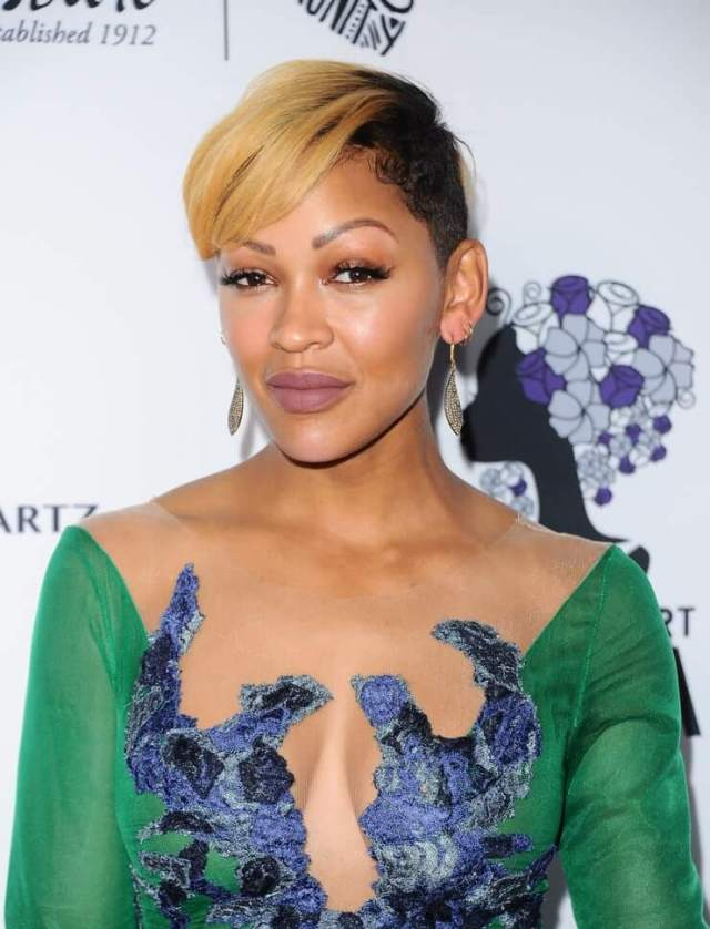 meagan good sexy cleavage