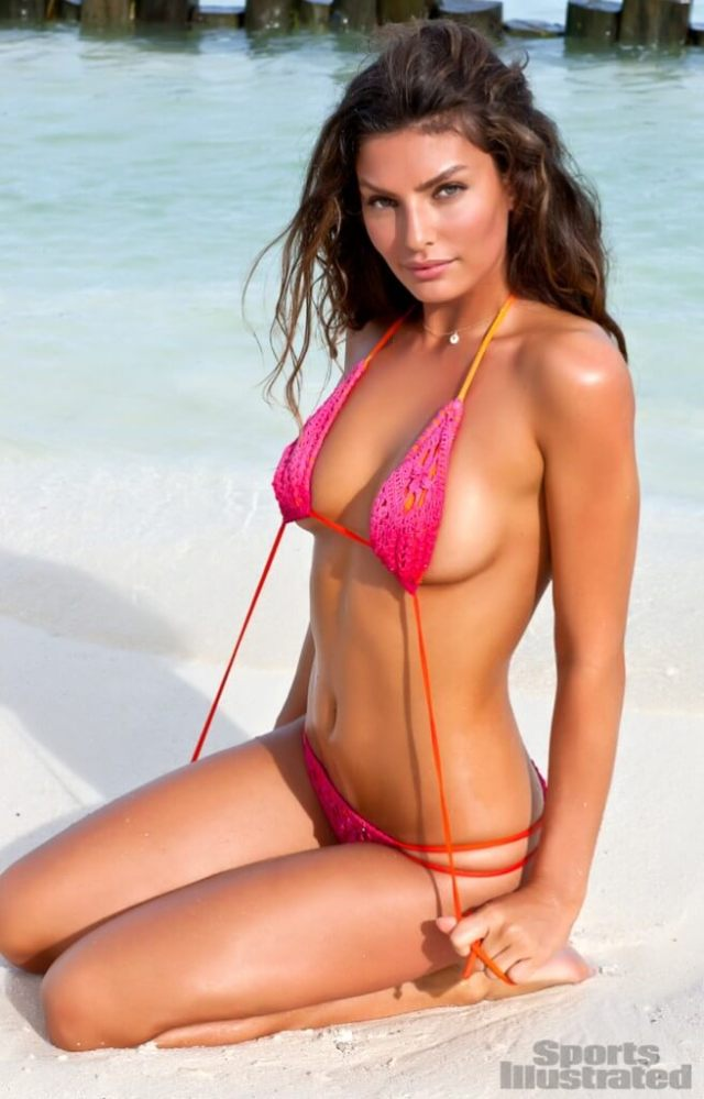 Alyssa Miller pink bikini photo