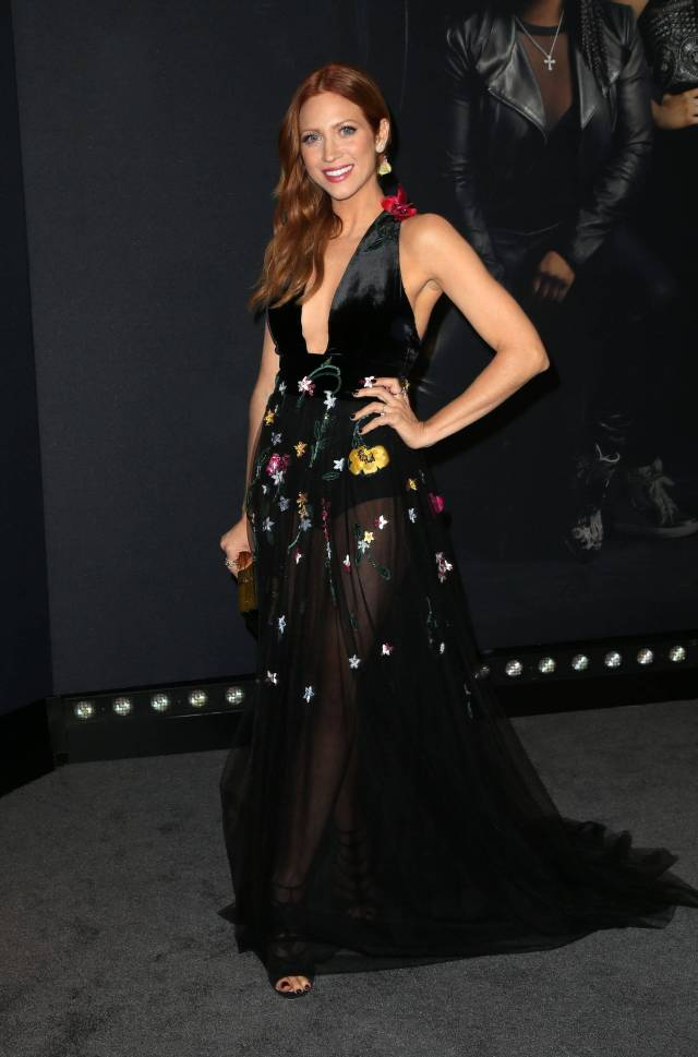 Brittany Snow awesome black dress