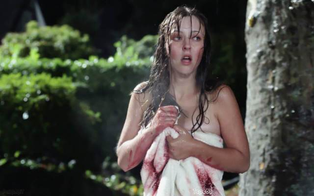 Katharine Isabelle sexy topless