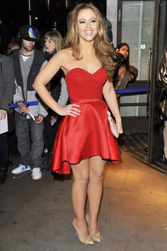 Kimberley Walsh sexy red dress pic]