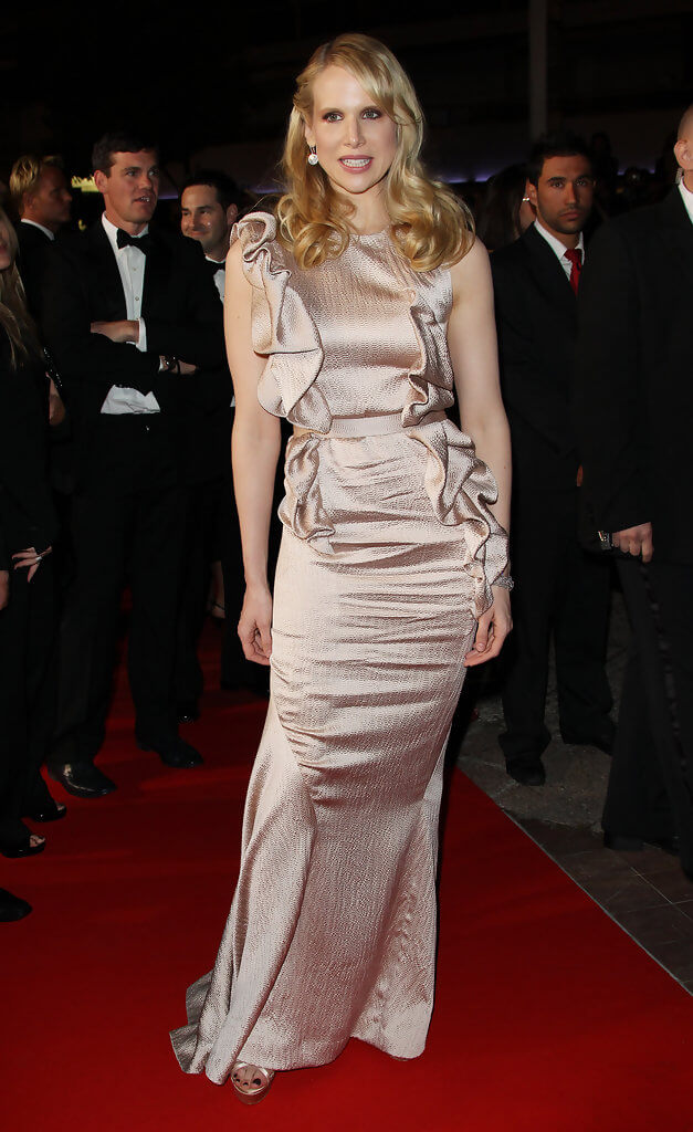 Lucy Punch sexy long dress