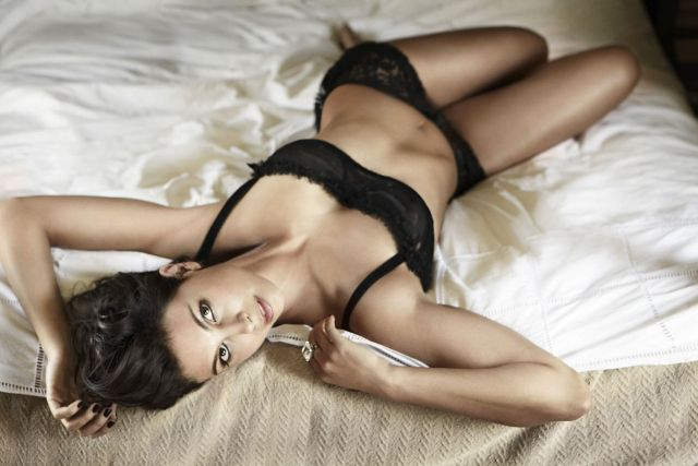Morena Baccarin on Bed