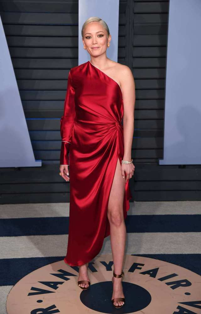 Pom Klementieff sexy red dres pic
