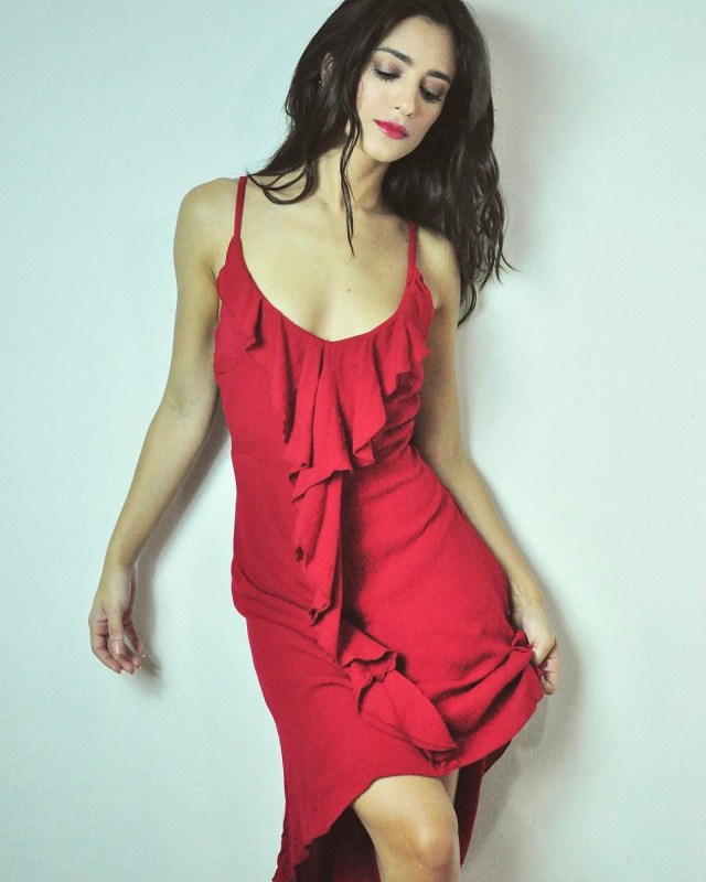 Sol Rodriguez Hot in Red Dress
