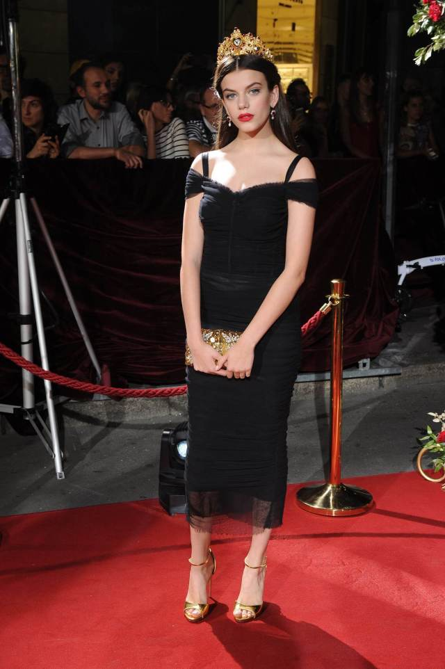 Sonia Ben Ammar long black dress pic (2)
