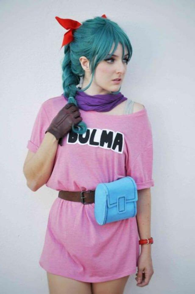 bulma blue hair