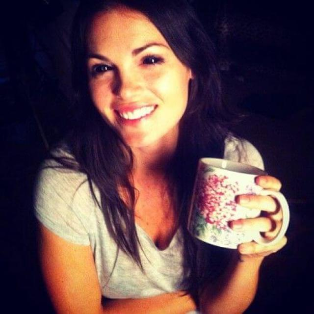 kate french drinking coffee
