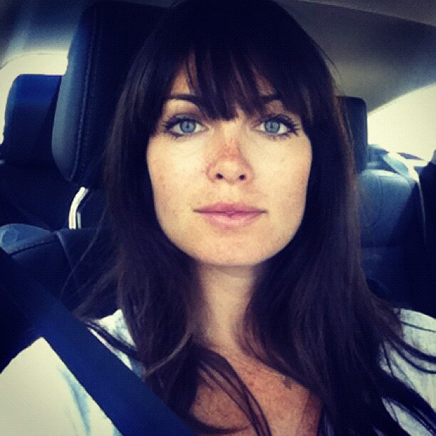 kate french inside the car