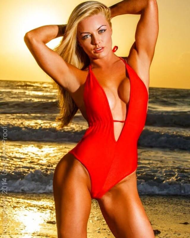 mandy rose red swimsuit