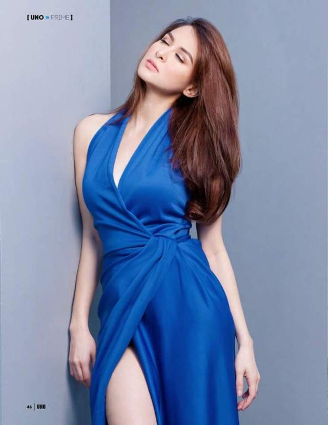marian rivera blue dress