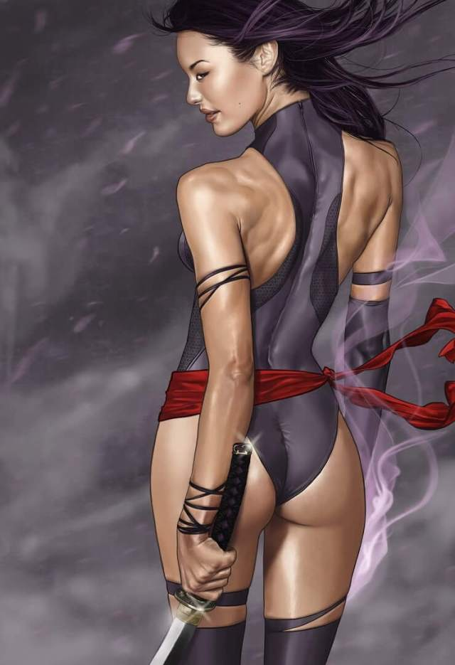 psylocke hot cleavages