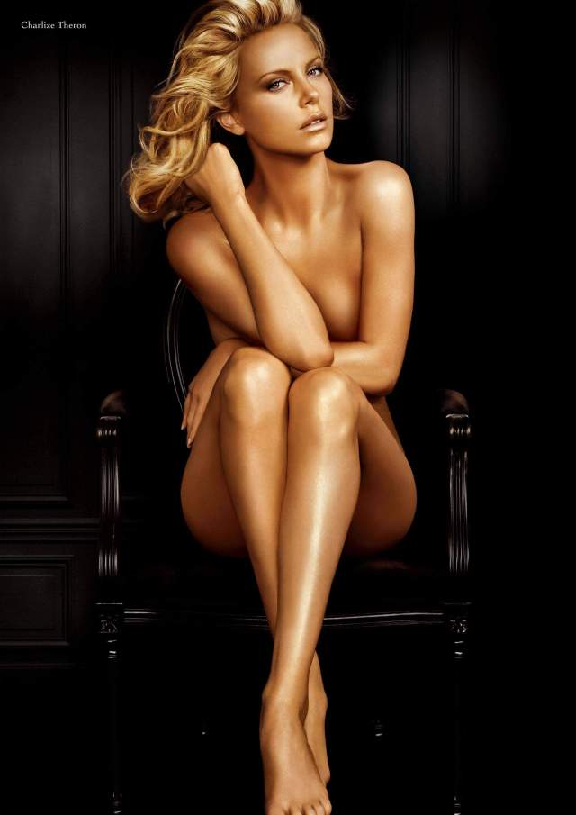 Charlize Theron sexy near-nude pic
