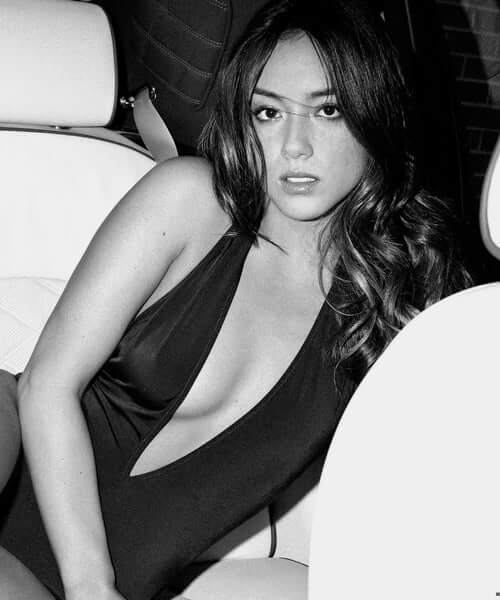 Chloe Bennet sexy cleavage photo