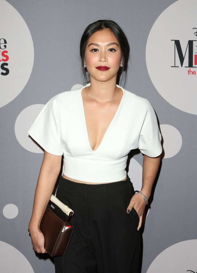Dianne Doan sexy white cleavage