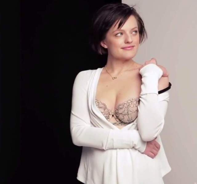 Elisabeth Moss hot cleavage pic