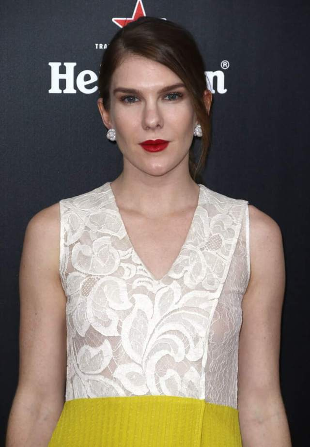 Lily Rabe hot red lips