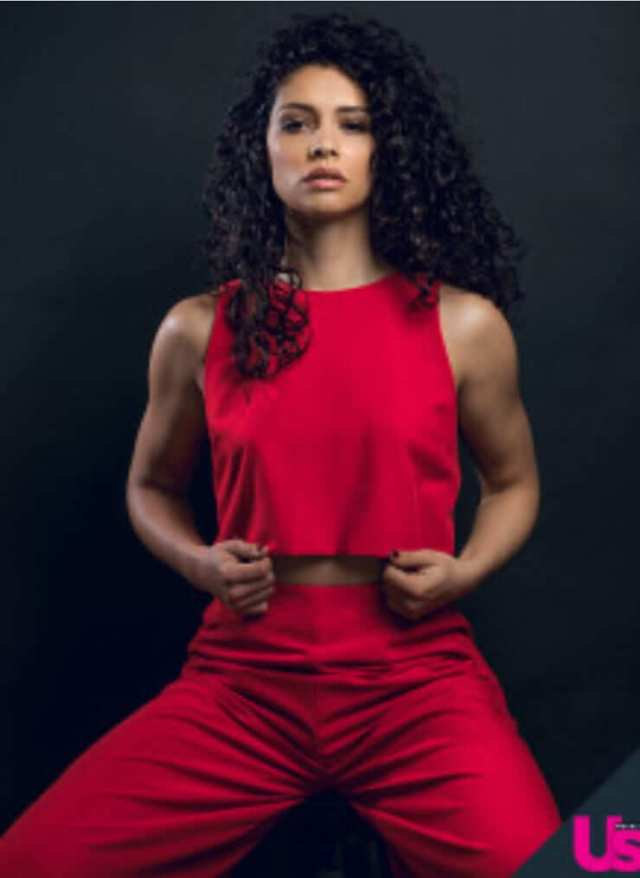 Miranda Rae Mayo sexy red dress