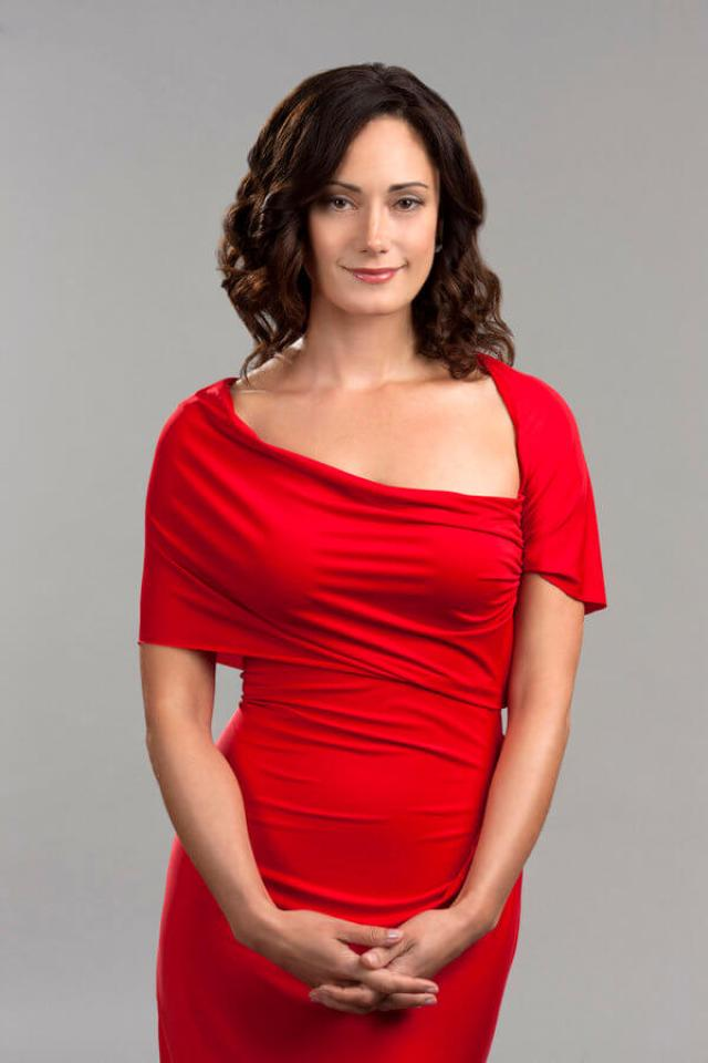 Natalie Brown sexy red dress