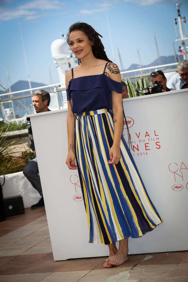 Sasha Lane long dress pic (2)