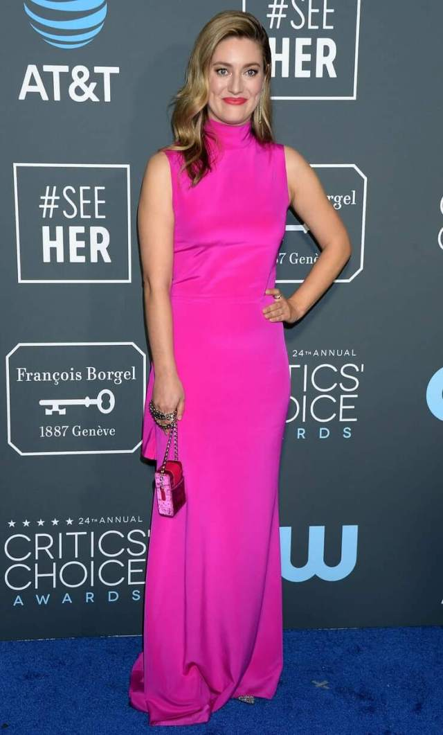 Zoe Perry pink dress