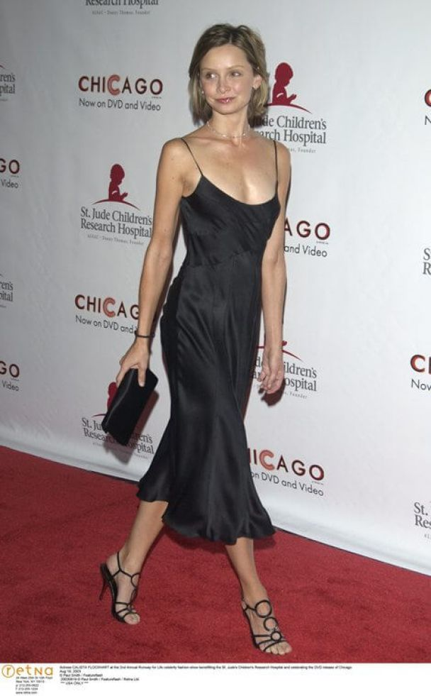 Calista Flockhart sexy cleavage
