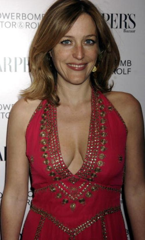 Gillian Anderson hot cleavage pictures (5)