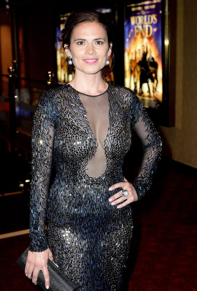 Hayley Atwell cleavage pics