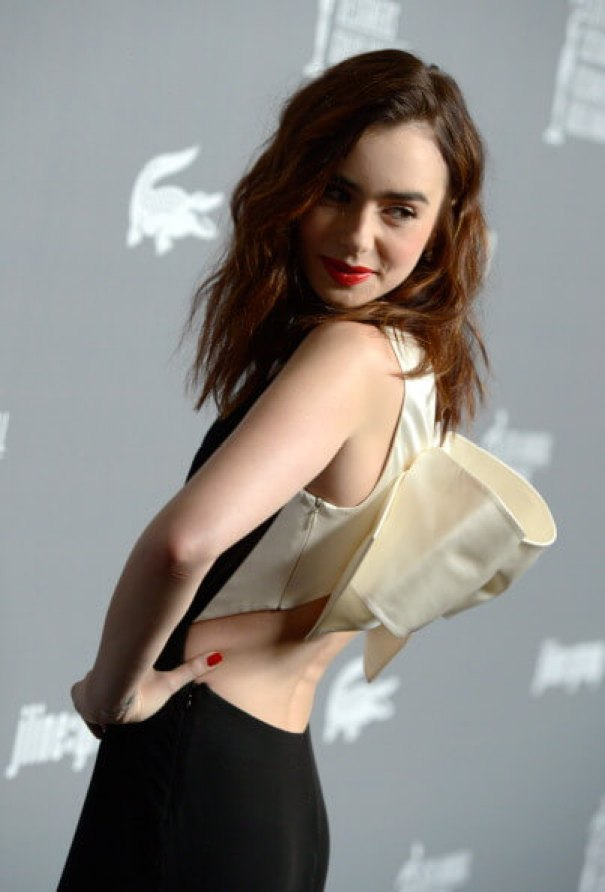 Lily Collins hot side pic