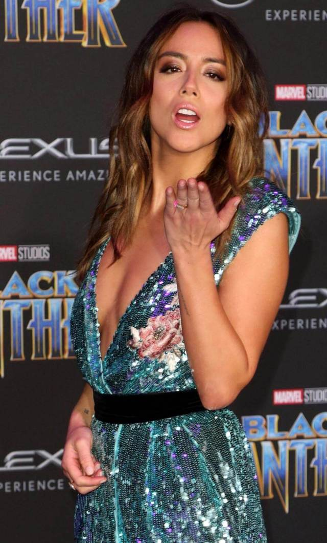 chloe bennet hot side look pic