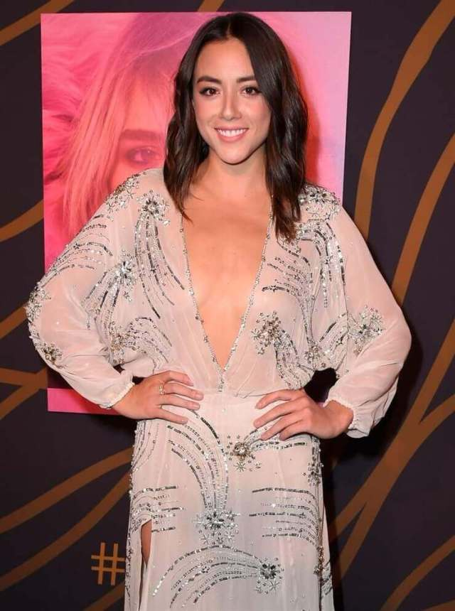 chloe bennet sexy cleavage pics